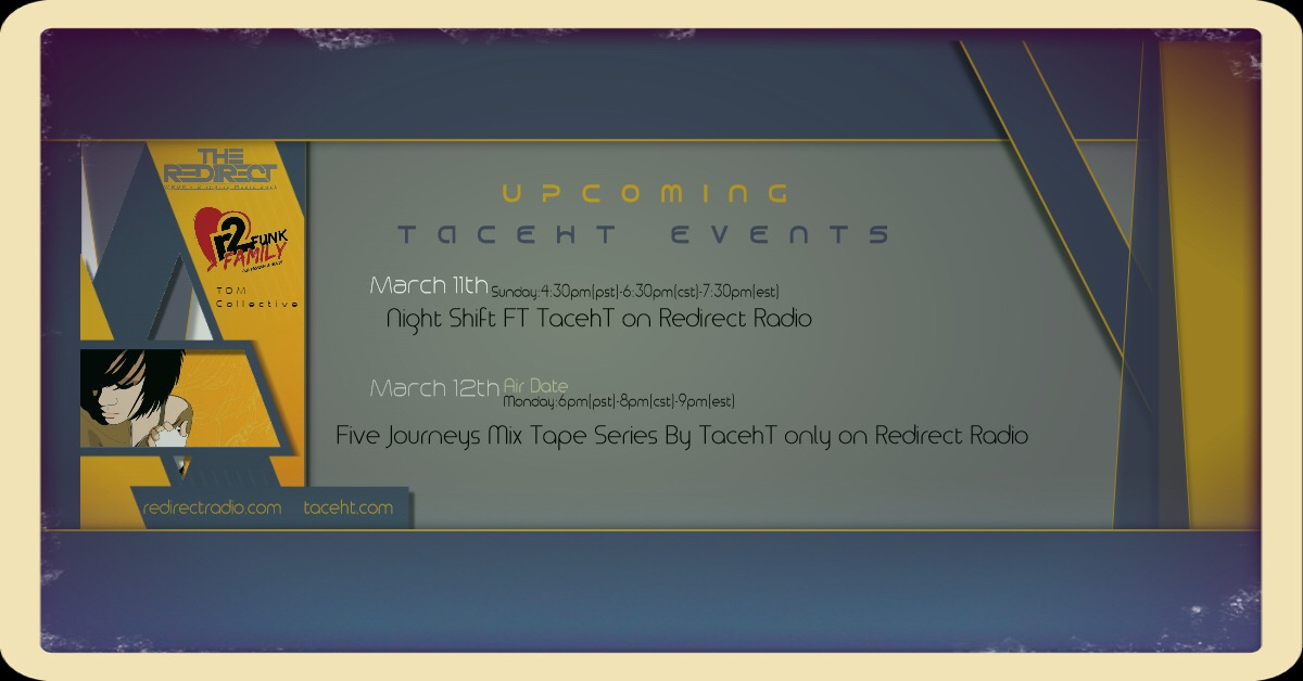 Upcoming Events for TacehT